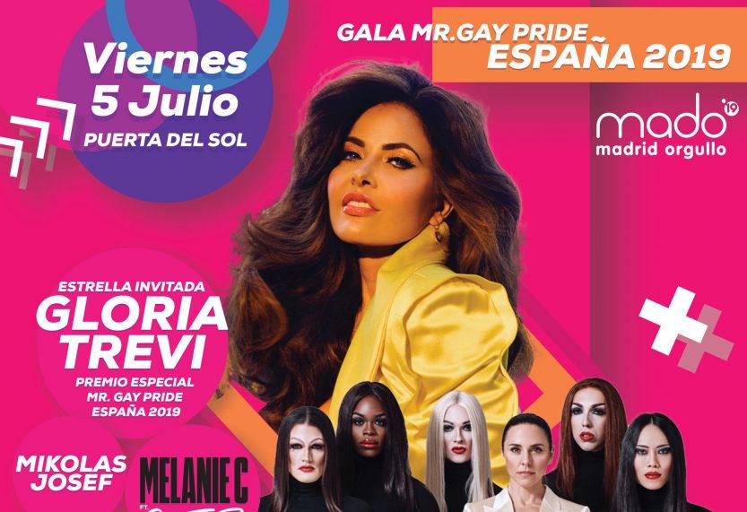 La Puerta del Sol será testigo de la elección de Mr. Gay Pride España 2019 en una gala llena de grandes actuaciones y sorpresas